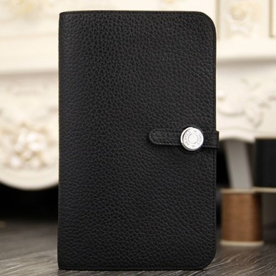 Fashion Hermes Dogon Combine Wallet In Black Leather RS13739