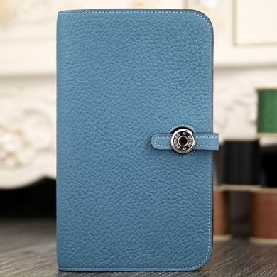 Hermes Dogon Combine Wallet In Jean Blue Leather RS12945
