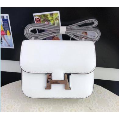 Quality Hermes Constance 23cm Epsom Calfskin Original Leather Handstitched, Blanc RS19181