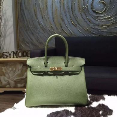 Replica Hermes Birkin 30cm Togo Calfskin Bag Handstitched Gold Hardware, Canopee V6 RS11897