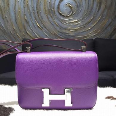 Replica Hermes Constance 24cm Epsom Calfskin Original Leather Hand Stitched, Crocus 9W RS10141