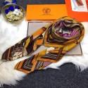 Hermes Silk Scarf Brown RS12517
