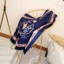 Hermes Wool Scarf Blue RS17340