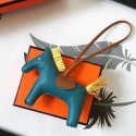 Best Hermes Rodeo Horse Charm In Cyan/Camarel/Yellow Leather Bag RS109218