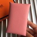 Best Hermes Pink Epsom Calvi Card Holder Bag RS25717