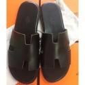 Replica Hermes Black Swift Izmir Sandals Shoes RS203211
