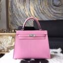 Best Hermes Birkin 25cm Lizard Skin Original Leather Bag Handstitched Palladium Hardware, Pink 5P RS12259