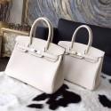 Copy Cheap Hermes Birkin 25cm/30cm Togo Calfskin Bag Handstitched Palladium Hardware, Craie CC10 RS15909
