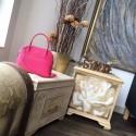 Copy Hermes Bolide 27cm Epsom Calfskin Leather Bag Palladium Hardware Handstitched, Rose Tyrien E5 RS13024