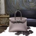 Fake AAAAA Hermes Birkin 30cm Togo Calfskin Bag Original Leather Handstitched, Etain 8F RS06524