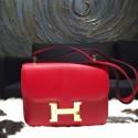 Fake Designer Hermes Constance 24cm Epsom Calfskin Original Leather Hand Stitched, Rouge Casaque Q5 RS05412