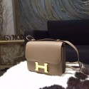 Fake Hermes Constance 18cm Epsom Calfskin Original Leather Handstitched Gold Hardware, Etoupe RS11491