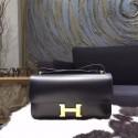 Fashion Hermes Constance Elan 23cm Box Calfskin Gold Hardware Handstitched, Noir RS14084