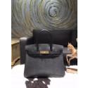 Hermes Birkin 30cm Epsom Calfskin Bag Handstitched Gold Hardware, Noir Black RS09639