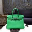 Hermes Birkin 30cm Veau Crispe Togo Calfskin Bag Handstitched Palladium Hardware, Bambou CK1K RS09090