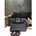 Hermes Birkin 35cm Epsom Calfskin Leather Bag Gold Hardware Handstitched, Noir CK89 RS09093
