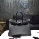 Hermes Birkin 35cm Epsom Calfskin Original Leather Bag Handstitched, Noir Black RS05050