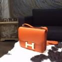 Hermes Constance 23cm Epsom Calfskin Original Leather Handstitched Gold Hardware, Orange CK93 RS01215