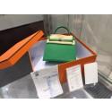 Hermes Kelly 25cm Epsom Calfskin Leather Palladium Hardware High Quality, Bambou RS09612