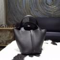 Hermes Picotin Lock Bag 18cm/22cm Taurillon Clemence Palladium Hardware Hand Stitched, Noir Black RS07145