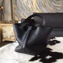 Hermes Picotin Lock Bag 18cm/22cm Taurillon Clemence Palladium Hardware Hand Stitched, Noir CK89 RS07824
