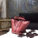 Hermes Picotin Lock Bag 18cm/22cm Taurillon Clemence Palladium Hardware Handstitched, Rouge H CK55 RS07787