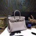 Imitation Hermes Birkin 35cm Togo Calfskin Bag Handstitched Palladium Hardware, Gris Tourterelle RS05091