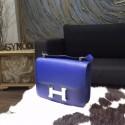 Imitation Hermes Constance 23cm Epsom Calfskin Original Leather Handstitched Palladium Hardware, Blue Electric 7T RS16565