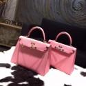 Imitation Hermes Kelly 25cm Epsom Calfskin Bag Handstitched, Rose Confetti 1Q RS15506