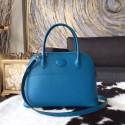 Luxury Hermes Bolide 27cm Epsom Calfskin Leather Bag Palladium Hardware Handstitched, Blue Izmir 7W RS12328