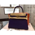 Replica Cheap Hermes Kelly 28cm Togo Leather Gold Hardware High Quality, Iris 9K RS17314