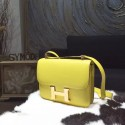 Replica Hermes Constance 23cm Epsom Calfskin Original Leather Handstitched Gold Hardware, Soufre C9 RS08820