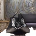 Replica Hermes Lindy 30cm Matte Alligator Crocodile Bag Handstitched Palladium Hardware, Noir Black RS15938