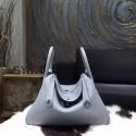Replica Hermes Lindy 30cm Taurillon Clemence Calfskin Bag Handstitched, Bleu Lin CKJ7 RS04288