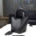 Replica Hermes Picotin Lock Bag 18cm/22cm Taurillon Clemence Palladium Hardware Hand Stitched, Noir Black RS01558