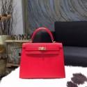 Replica Top Hermes Kelly 28cm Epsom Calfskin Bag Gold Hardware Handstitched, Rouge Casaque Q5 RS16777