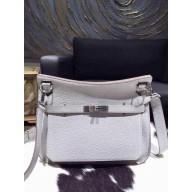 Best Hermes Jypsiere 28cm Gypsy Bag Pearl Gray CK80 Togo Palladium RS11931