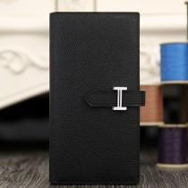 Hermes Bearn Gusset Wallet In Black Epsom Leather RS02807