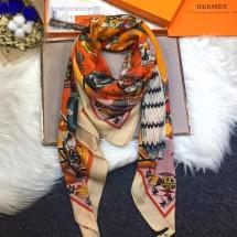 Imitation Hermes Silk Shawl Camel RS17752