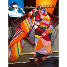 Hermes Silk Shawl Red RS01345