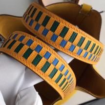 Designer Hermes Yellow Tressage Cuir 25 MM Bag Strap RS25723