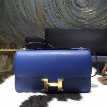 Best Quality Hermes Constance Elan 23cm Swift Calfskin Handstitched Palladium Hardware, Blue Electric 7T RS04884