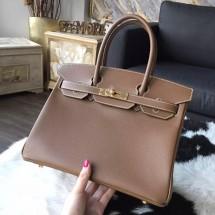 Hermes Birkin 30cm Epsom Calfskin Bag Handstitched Gold Hardware, Alezan 3G RS14840