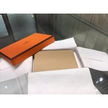 Hermes Calvi Card Holder Case Handstitched Taurillon Clemence Calfskin, Tabac Camel CK24 RS13377