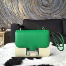 Hermes Constance 19cm Epsom Calfskin Original Leather Handstitched, Bambou 1K RS12212