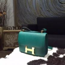 Hermes Constance 23cm Epsom Calfskin Original Leather Handstitched Palladium Hardware, Malachite Z6 RS09594