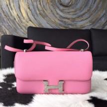 Hermes Constance Elan 23cm Epsom Calfskin Handstitched Palladium Hardware, Pink 5P RS08762
