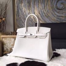 Imitation Hermes Birkin 30cm Swift Calfskin Bag Handstitched Palladium Hardware, Craie CC10 RS05467