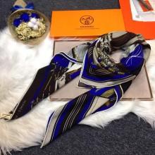 Hermes Silk Scarf Blue RS16445