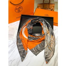 Replica Hermes Zebra Silk Scarf Gray RS21033